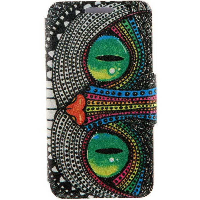 SZKINSTON Shining Eyes Pattern PU Leather Case for Samsung Galaxy S6Leather Cases<br>Form  ColorGreen + Black + Multi-ColoredModelKST1606103MaterialPU Leather + PCQuantity1 DX.PCM.Model.AttributeModel.UnitShade Of ColorMulti-colorCompatible ModelsSamsung Galaxy S6FeaturesDust-proof,Shock-proof,Abrasion resistance,Holder functionPacking List1 * Case<br>