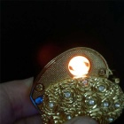 Creative Heart Shaped USB lighter - Gold