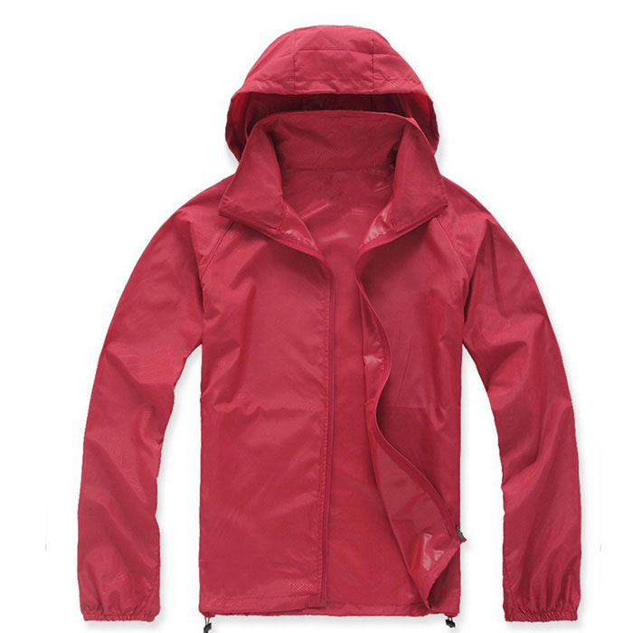 Outdoor Skin Clothing Sunscreen Clothing Anti UV Coat - Red (Size M)