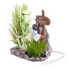 Saim Skeleton hurken Toilet Style Aquariumdecoratie - Green