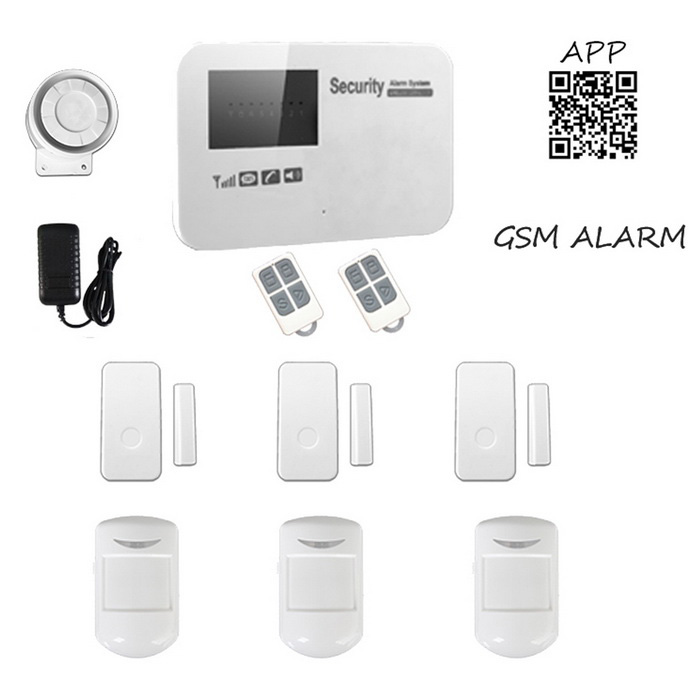 GSM Wireless Smart Alarm Systems - White (AU Plug)Alarm Systems<br>Form  ColorWhitePower AdapterAU PlugModelWL-JT-11GXTMaterialABSQuantity1 DX.PCM.Model.AttributeModel.UnitScreen Size4.2*6.5 DX.PCM.Model.AttributeModel.UnitRemote Control Range150 DX.PCM.Model.AttributeModel.UnitVoice Decibels110dBPower AdaptorYesPower SupplyAAAWorking Temperature-10~40 DX.PCM.Model.AttributeModel.UnitWorking Humidity80%Working Frequency433MHzPower SupplyAAA,AC 220VBattery included or notYesBattery NumberAAA*6Rated Current2 DX.PCM.Model.AttributeModel.UnitRate VoltageDC 9~12VCertificationCEOther Featuresalarm panel support Android &amp; IOS APP operationPacking List1 * Alarm system3 * IR detectors2 * Remote controls3 * Wireless door sensors1 * Power charger (100~240V / AU plug / 140cm-cable)1 * Siren1 * Wire port1 * English user manual<br>