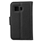 Litsi Pattern Flip-Open Case for Samsung Galaxy Young 2 G130H - Musta