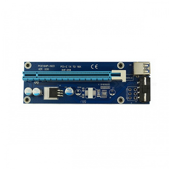 Buy PCI-E USB 3.0 1X to 16X Extension Cable - Blue with Litecoins with Free Shipping on Gipsybee.com