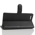 PU Leather Wallet Cases w/ Card Slots for Elephone M2 - Black