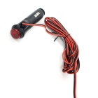 CS-076B1 Car Motorcycle Cigarette Lighter Power Plug w/ Switch - Black
