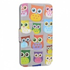SZKINSTON Cute Owls Pattern PU Leather Case for Samsung Galaxy Note 5