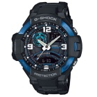Casio g-shock GA-1000-2B série aviation montre mens - noir + bleu rin