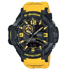 Casio G-Shock GA-1000-9B Aviation Series Mens Watch - Black & Yellow