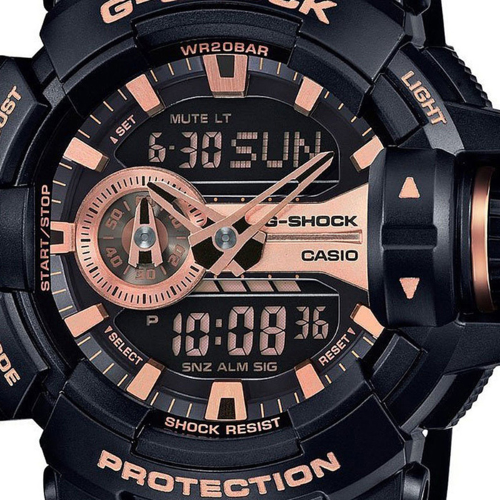Casio 1a4 Montre Noir G Or Et Homme Ga Rose Shock 400gb Pour eH2WE9bDIY