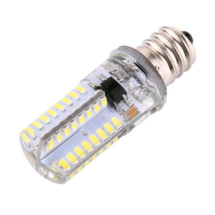 YWXLight E12 64-3014 SMD LED Silicone Dimmable Light Bulb Cold White