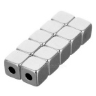 5 * 5 * 5mm-2mm Square NdFeB Magneetit w / Sink Hole - Silver (10PCS)