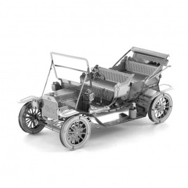 3D Drie-Dimensionale DIY Assemblee Model Ford Car - Zilver
