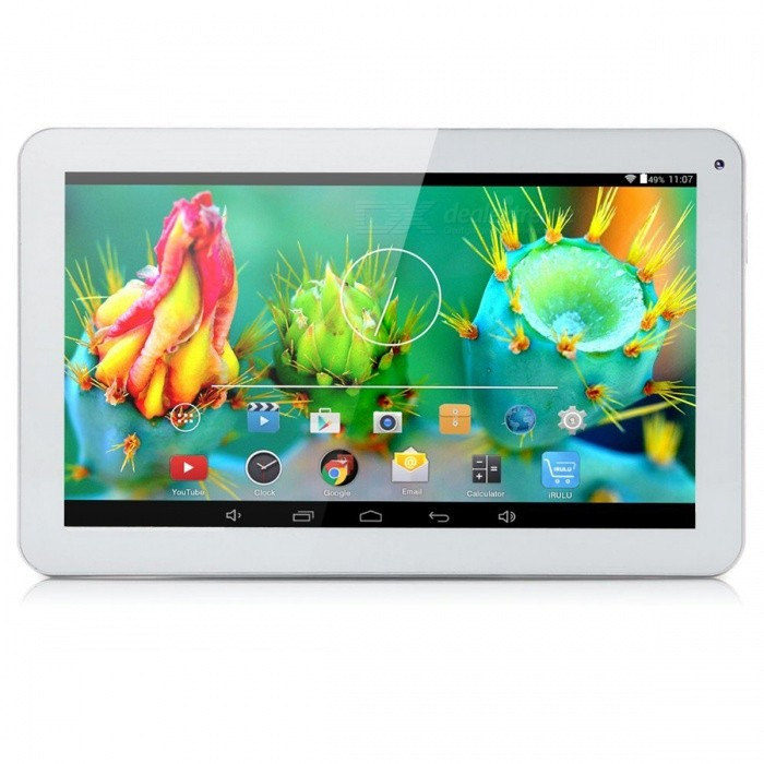 Ioision M101(M101Q) 10.1 Quad-Core Android 5.1 Tablet PC w/ Wi-FiAndroid Tablets<br>Form  ColorWhiteBrandOthers,ioisionModelM101(M101Q)Quantity1 DX.PCM.Model.AttributeModel.UnitMaterialPlasticShade Of ColorWhiteProcessor BrandAllwinnerProcessor ModelOthers,A33Processor Speed1.3 DX.PCM.Model.AttributeModel.UnitNumber of CoresQuad CoreGPUN/ARAM/Memory TypeDDR3 SDRAMBuilt-in Memory / RAM1GBCapacity / ROM16GBScreen Size10.1 inchesScreen Size9 inches~10.1 inchesScreen TypeTFTTouch TypeCapacitive screenResolution1024 x 600Touch Point5-point Capacitive Touch Screen3G TypeNo3G FunctionNoOperating SystemAndroid 5.1Supported NetworkWifi,BluetoothGravity SensorYesWi-Fi StandardIEEE 802.11 b/g/nBluetooth VersionBluetooth V4.0MicrophoneYesBuilt-in SpeakersYesInterface1 x 3.5mm,1 x micro USB,1 x DC Port,1 x TFHDMINoUSB ChargeYesGoogle Play(Android Market)YesCamera type2 x CamerasFront Camera Pixels0.3M DX.PCM.Model.AttributeModel.UnitBack Camera Pixels2.0M DX.PCM.Model.AttributeModel.UnitPhotoflash LampNoStorage InterfaceTFButtonSound,PowerImagesBMP,GIF,JPEG,JPG,PNGE-bookDOC,HTML,PDF,TXTVideo FormatsRM,RMVB,AVI,DIVX,MOV,MP4,VOB,MPEG,H.264,MPEG1,MPEG2,MPEG4,WMV,TPExternal Memory Max. Support32 DX.PCM.Model.AttributeModel.UnitMicrophone JackYesPower AdapterUS PlugTip Diameter5.5 x 2.5Supported LanguagesEnglish,French,German,Italian,Spanish,Portuguese,Russian,Vietnamese,Polish,Greek,Danish,Norwegian,Dutch,Arabic,Turkey,Japanese,Bahasa Indonesia,Korean,Thai,Maltese,Hungarian,Latin,Persian,Malay,Slovak,Czech,Romanian,Swedish,Finnish,Simplified Chinese,Traditional Chinese,Bulgarian,Norwegian,HebrewBattery Capacity5500 DX.PCM.Model.AttributeModel.UnitBattery TypeLi-polymer batteryWorking Time5 DX.PCM.Model.AttributeModel.UnitStandby Time360 DX.PCM.Model.AttributeModel.UnitCharging Time3.5 DX.PCM.Model.AttributeModel.UnitCertificationFCC, CEPacking List1 x ioision 10.1 Inches Tablet1 x Power adapter(5.0V/2.0A)1 x Micro USB Cable(cable length: 1m)1 x English User Manual<br>