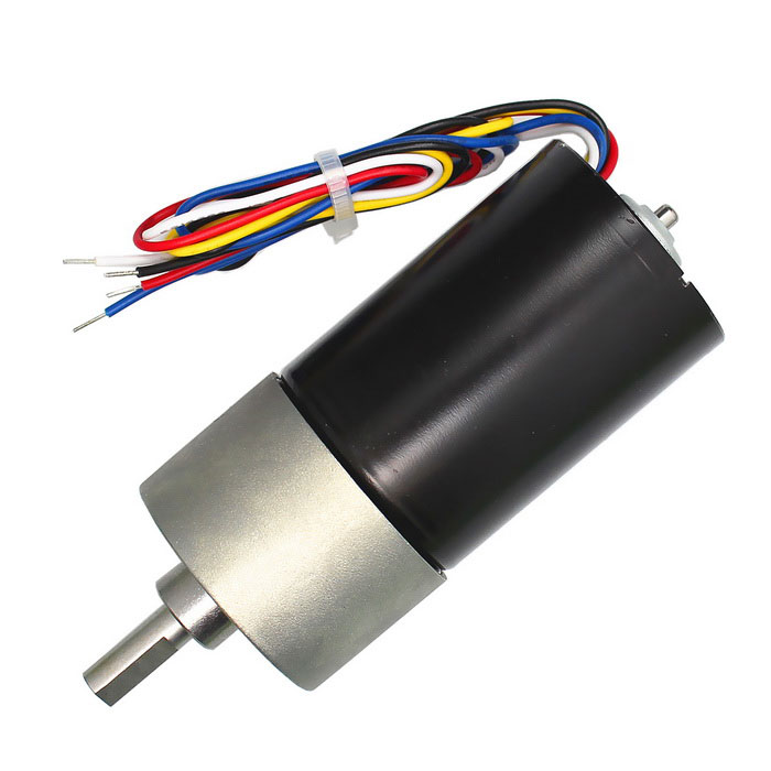 High Torque DC Brushless Gear Motor - Black + Grey