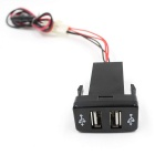CS-270A1 Car Dual USB Charger for Toyota VIGO - Black