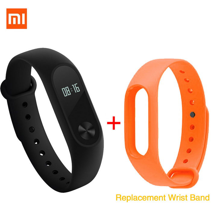 Xiaomi 0.42 OLED Touch Screen Mi Band 2 Smart Bracelet + Replace BandSmart Bracelets<br>Form  ColorBlack+orangeModelXMSH04HMQuantity1 DX.PCM.Model.AttributeModel.UnitMaterialAluminum alloy, thermoplastic elastomerWater-proofIP67Bluetooth VersionBluetooth V4.0Touch Screen TypeYesOperating SystemAndroid 4.4,Android 4.4.1,Android 4.4.2,iOS,-Compatible OSSupport Bluetooth 4.4 Android 4 above system, iOS7.0 above systemBattery CapacityLithium polymer 70 DX.PCM.Model.AttributeModel.UnitBattery TypeLi-polymer batteryStandby Time20 DX.PCM.Model.AttributeModel.UnitOther Features0.42 OLED Display Touch Screen?Call reminder, Measurement of heart rate,Pedometer, Sleep management, SMS RemindingPacking List1 * Original Xiaomi Mi Band 2 Smart device1 * Original Wristband1 * Charger cable(15cm)1 * Chinese User Manual1 * Replacement Wristband<br>