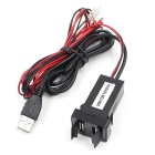 CS-271A1 Dual USB Billader med Audio USB for Toyota - Svart
