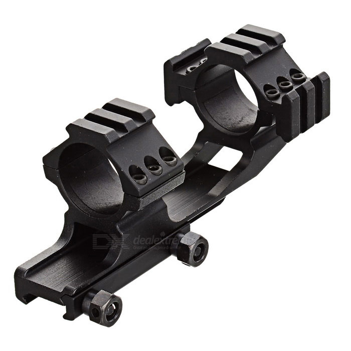 L012 30mm Ring Diameter Fishbone Style Gun Mount - Black