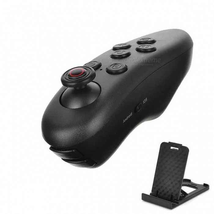 Buy Universal Bluetooth Mini Wireless Remote Controller Joystick - Black with Litecoins with Free Shipping on Gipsybee.com