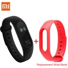 "Xiaomi 0.42"" OLED Touch Screen Mi Band 2 Smart Bracelet + Replace Band"