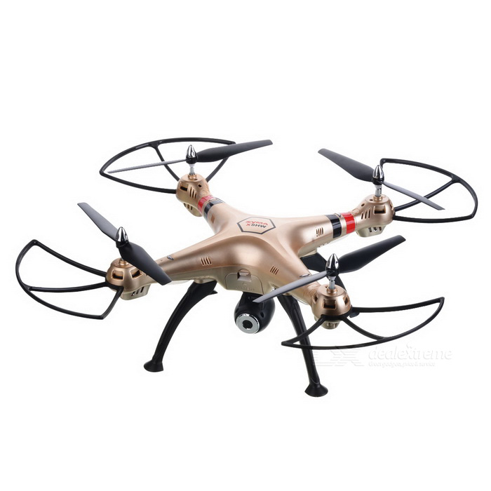 SYMA  X8HW 6-Channel RC Drone Quadcopter with 0.3MP HD Camera - Golden