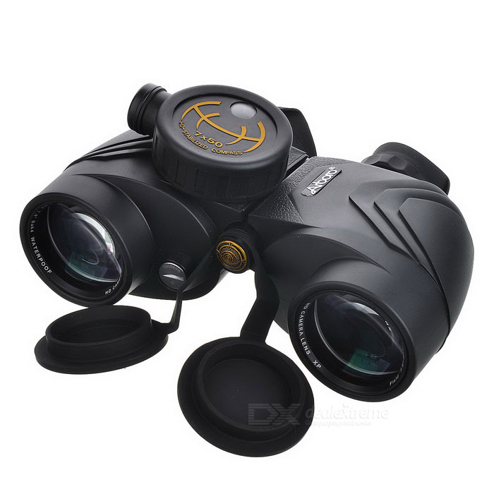 Arboro 7X 50mm HD Binocular w/ Compass - Black + Gold