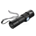 Cwxuan 100lm USB Rechargeable Waterproof 3-Mode Flashlight - Black