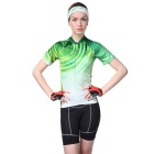 NUCKILY Outdoor manches courtes Jersey Polyester Cyclisme + Pantalons courts