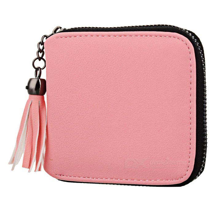 Women's Zipper Imitation Leather Wallet