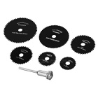 High Speed ​​Steel Cutting / Slijpen Saw Blade Set - Zwart (6 stuks)