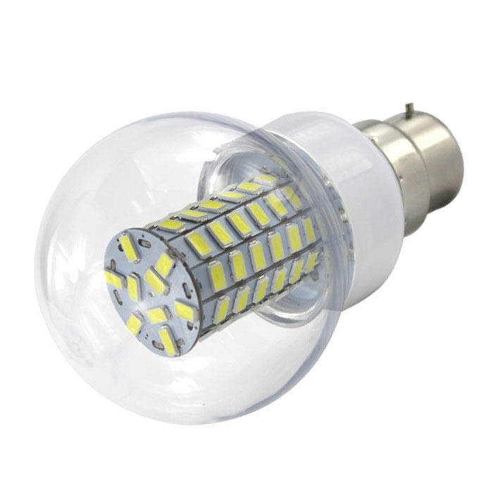 HONSCO B22 6W 600lm Cold White 69-LED Globular Bulb (AC/DC 10V~60V)Other Connector Bulbs<br>Color BINCool WhiteModelB22 69E-WMaterialPCB+PVCForm  ColorWhite + SilverQuantity1 DX.PCM.Model.AttributeModel.UnitPower6WRated VoltageOthers,AC/DC 10-60 DX.PCM.Model.AttributeModel.UnitConnector TypeOthers,B22Chip BrandOthers,Three chips AnnEmitter TypeOthers,5730 SMD LEDTotal Emitters69Theoretical Lumens700 DX.PCM.Model.AttributeModel.UnitActual Lumens600 DX.PCM.Model.AttributeModel.UnitColor Temperature6500KDimmableNoBeam Angle360 DX.PCM.Model.AttributeModel.UnitCertificationCE,RoHSPacking List1x LED<br>