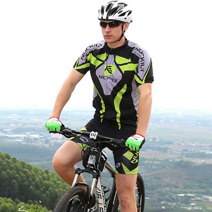 NUCKILY Outdoor Cycling Short Jersey + Short Pants Set - Green (XXL)Form  ColorGreenSizeXXLModelMA005-MB005Quantity1 DX.PCM.Model.AttributeModel.UnitMaterial100%polyesterGenderMensSeasonsSpring and SummerShoulder Width33 DX.PCM.Model.AttributeModel.UnitChest Girth117 DX.PCM.Model.AttributeModel.UnitSleeve Length38 DX.PCM.Model.AttributeModel.UnitTotal Length74 DX.PCM.Model.AttributeModel.UnitWaist70 DX.PCM.Model.AttributeModel.UnitTotal Length44 DX.PCM.Model.AttributeModel.UnitSuitable for Height178-185 DX.PCM.Model.AttributeModel.UnitBest UseCyclingSuitable forAdultsTypeShort Pants,Short JerseysPacking List1 * Set of clothes<br>