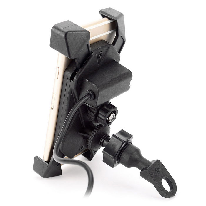 IZTOSS Motorcycle E-bike Bicycle 2-in-1 Stand Holder Mount - Black