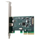 PCI-E to USB 3.1 Type-C Adapter Card - Green + Black