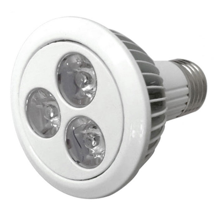 youoklight YK6011 E27 3W 3-LED IP55 plante vokse lys (ac 85 ~ 265V)