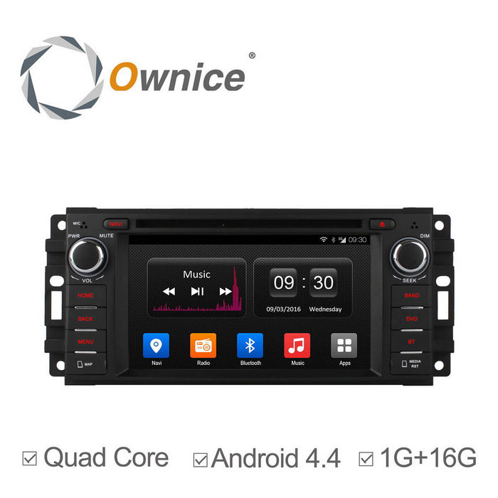 Ownice C300 Android 4.4 HD 1024 * 600 lettore DVD dell'automobile per Jeep Dodge
