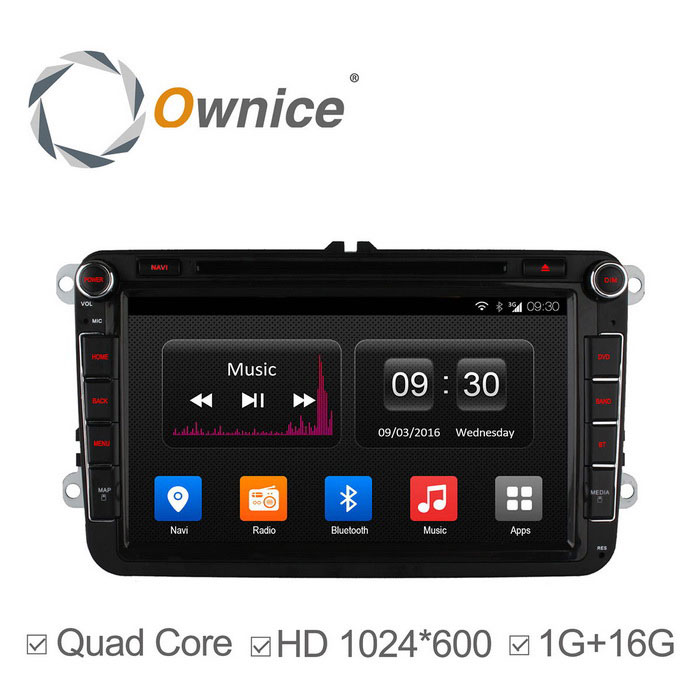 ownice C300 quad core Android 4.4 auton DVD VW golf napa HD 1024 * 600