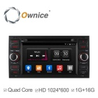 Ownice C300 Android 4.4 Quad-Core HD 1024 * 600 -auton DVD-soitin - musta