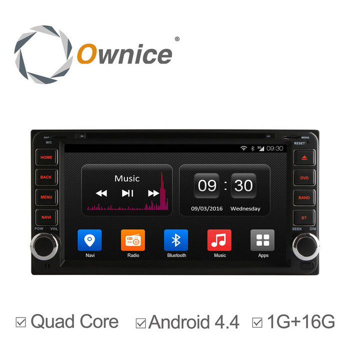 Ownice C300 800 * 480 Android 4.4 Bil DVD-spiller for TOYOTA Corolla