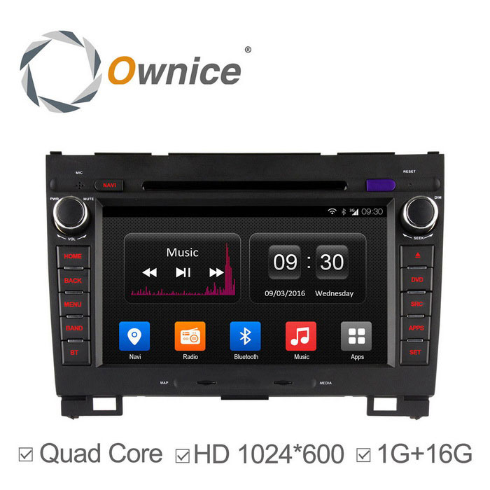 Ownice C300 HD 1024 * 600 Android 4.4 Quad-Core Auto DVD-soitin - musta