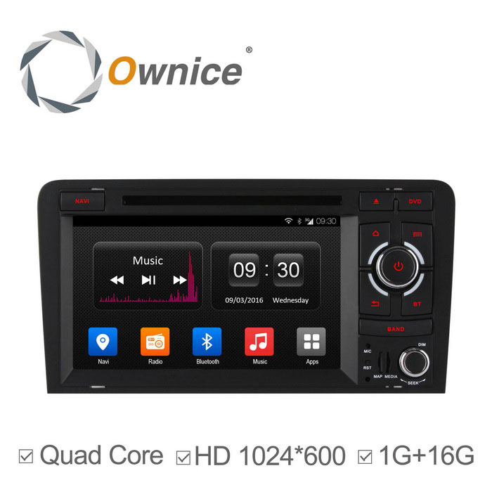 Ownice C300 Android 4.4 Quad-core Auto DVD-soitin For Audi A3 S3