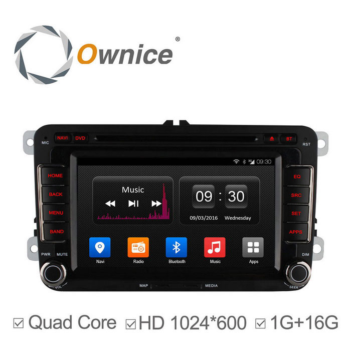 Ownice C300 Android 4.4 Auto DVD-soitin VW Golf Polo Bora Jetta