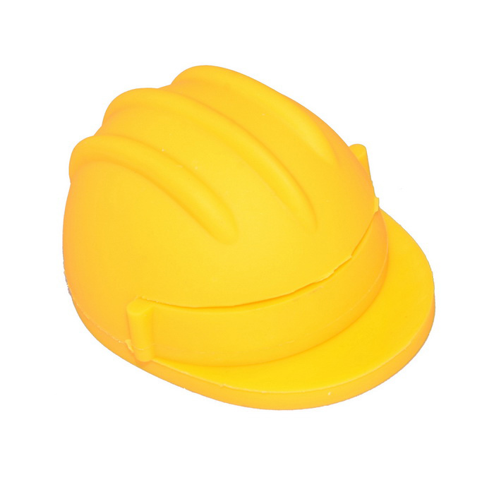 USB2.0 Round Cartoon Safety Helmet U disk 16GB - Gul