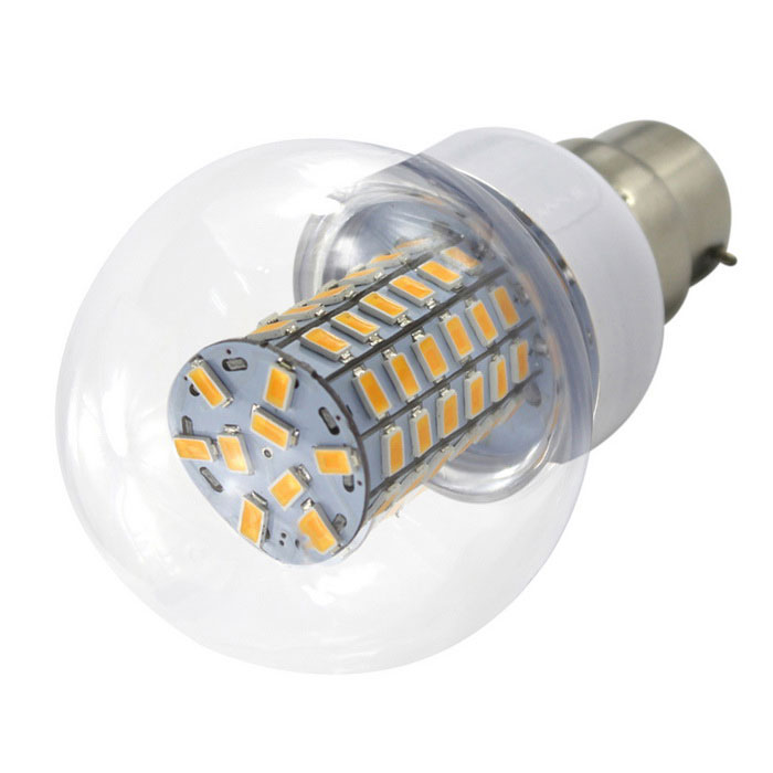 HONSCO B22 6W 69-5730 SMD LED Warm White Ball Bubble Lamp BulbOther Connector Bulbs<br>Color BINWarm WhiteMaterialPCB+PVCForm  ColorWhite + SilverQuantity1 DX.PCM.Model.AttributeModel.UnitPower6WRated VoltageOthers,AC/DC 10~60 DX.PCM.Model.AttributeModel.UnitConnector TypeOthers,B22Chip BrandOthers,Sanan chipsChip Type5730Emitter TypeLEDTotal Emitters69Theoretical Lumens700 DX.PCM.Model.AttributeModel.UnitActual Lumens600 DX.PCM.Model.AttributeModel.UnitColor Temperature3000KDimmableNoBeam Angle360 DX.PCM.Model.AttributeModel.UnitCertificationCE, RoHSPacking List1 * LED<br>