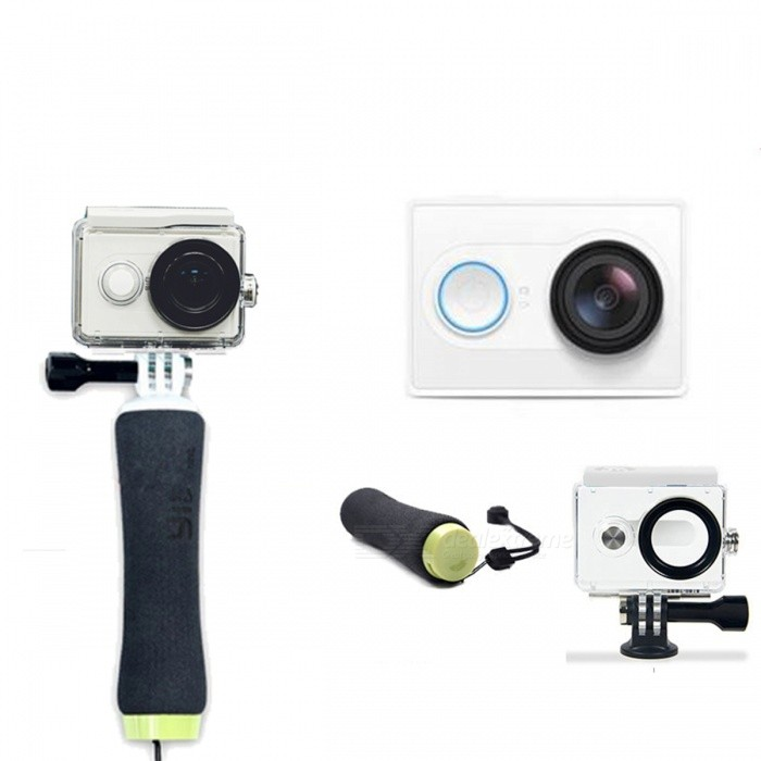 Xiaomi Xiaoyi 1080P 16MP Sports Camera w/ Wi-Fi, BT - WhiteSport Cameras<br>Form  ColorWhite + Diving SetModelXiaoyiShade Of ColorWhiteMaterialPC + ABSQuantity1 DX.PCM.Model.AttributeModel.UnitImage SensorCMOSImage Sensor Size2/3 inchesAnti-ShakeYesFocal Distance2.73+/-5% DX.PCM.Model.AttributeModel.UnitFocusing RangeN/AApertureF2.8Wide Angle155 degreeEffective Pixels16MPImagesJPEGStill Image Resolution4608*3456VideoOthers,MP4Video Resolution4608*3456Video Frame RateOthers,1080P 60fps / 1080P 48fps/1080P 30fps/1080P 24fps/960P 60fps/960P 48fps/720P 120fps/720P 60fps/720P 48fps/480P 240fpsCycle RecordYesISONoExposure CompensationNoSupports Card TypeTFSupports Max. Capacity64 DX.PCM.Model.AttributeModel.UnitBuilt-in Memory / RAMNoOutput InterfaceMicro USBLCD ScreenNoBattery Measured Capacity 990 DX.PCM.Model.AttributeModel.UnitNominal Capacity1020 DX.PCM.Model.AttributeModel.UnitBattery TypeLi-ion batteryBattery included or notYesVoltage5 DX.PCM.Model.AttributeModel.UnitBattery Charging Time3~4 hoursLow Battery AlertsYesWater ResistantOthers,40mSupported LanguagesSimplified ChineseOther FeaturesWi-Fi / Bluetooth 4.0Packing List1 * Sport camera1 * 1020mAh battery 1 * Charging cable (20cm)1 * Chinese user manual1 * Waterproof case1 * Floating Grip1 * Lens cap<br>