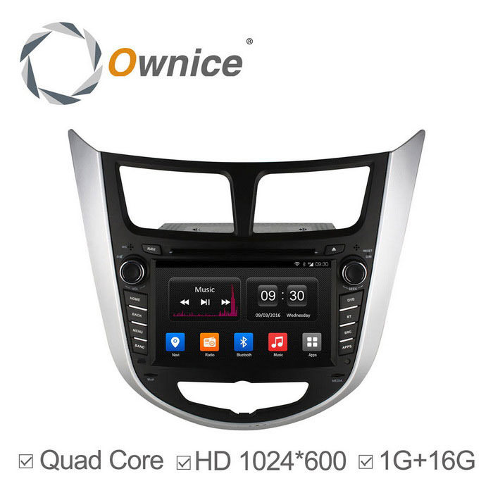 Ownice C300 1024 * 600 Quad-Core Android 4.4 Car DVD pro Hyundai Verna