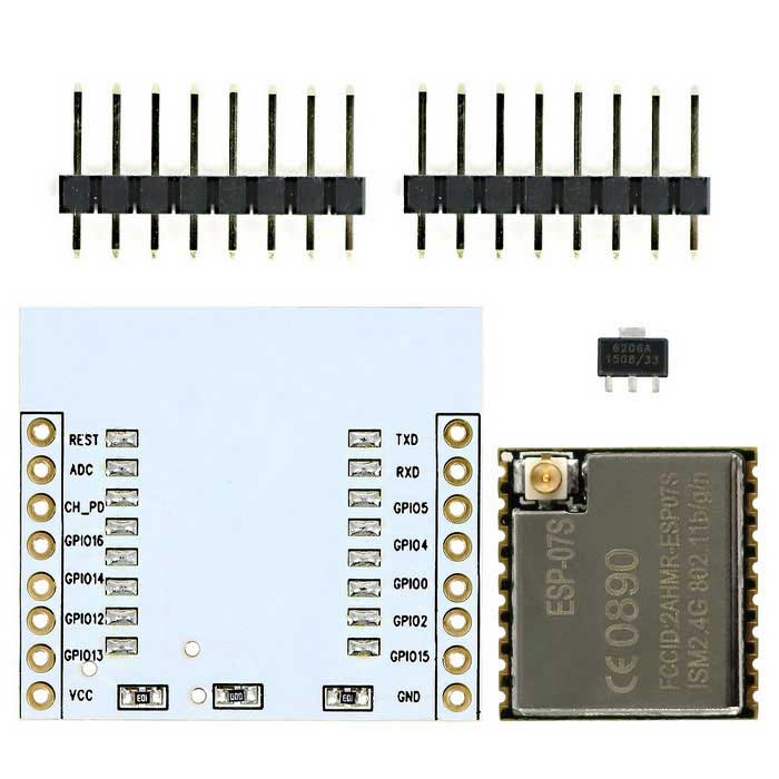 ESP-07S ESP8266 Serial Wi-Fi Transceiver Module + Adapter Board