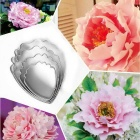 DIY Peony Flower Petal Style Baking Cake Molds - Silver (4PCS)