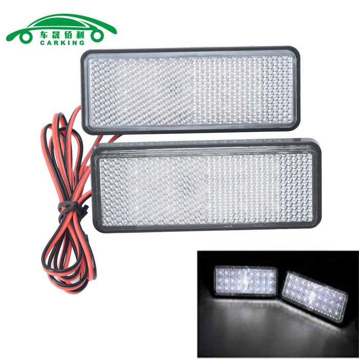 Motorcycle License Plate LED Flashing Light Neutral (2PCS)