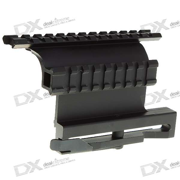 Fishbone Shaped Aluminum Alloy Scope Mount Side Base for AK47